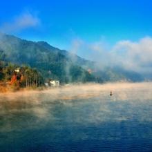 冬日暖阳:仙境般的美丽岱仙湖