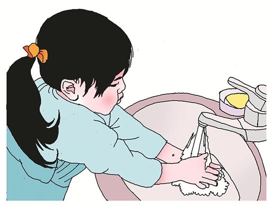 幼儿长水痘卡通图片