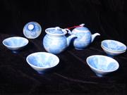 结晶釉—蓝普洱茶具