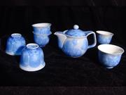 结晶釉—蓝茶具