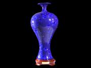 美人瓶(蓝釉)