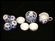 兰彩和寿花茶具