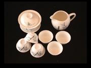 竹盖碗茶具