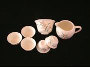 蘭花蓋碗茶具