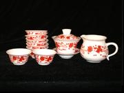 红彩红凤茶具