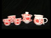 红彩太阳花茶具