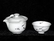 珠白瓷-普洱茶具(鱼)