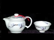 珠白瓷-茶具(梅)