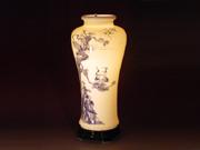珠白瓷-花瓶(松鶴延年)