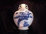 珠白瓷-花瓶(松鹤延年)