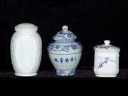 珠白瓷-茶葉罐(浮雕)