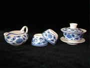兰彩五蝠普洱茶具