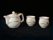兰花三用壶茶具