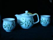 竹三用壶茶具