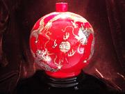 珠红瓷-红瓶