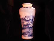 珠白瓷-花瓶(鸳鸯戏水)