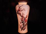 珠白瓷-花瓶(紅梅)