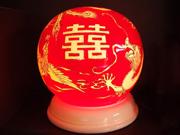珠紅瓷-燈具(喜)