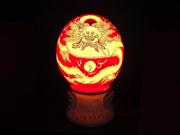 珠红瓷-灯具(龙)