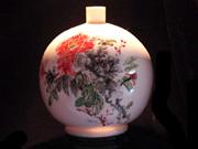 珠白瓷-花瓶(水彩)