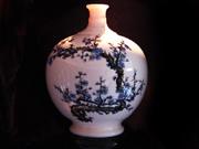 珠白瓷-花瓶(梅花)