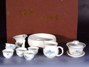 珠白瓷-菊花茶具