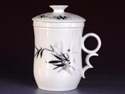 珠白瓷-个人杯(竹)