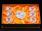 珠白瓷-普洱茶具(红梅)