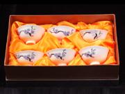 珠白瓷-普洱茶杯(梅)