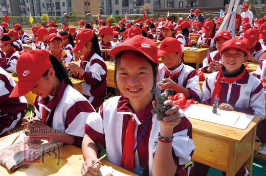 千名小学生手机大比拼-资讯-德化网小学版蔡北对口陶艺图片